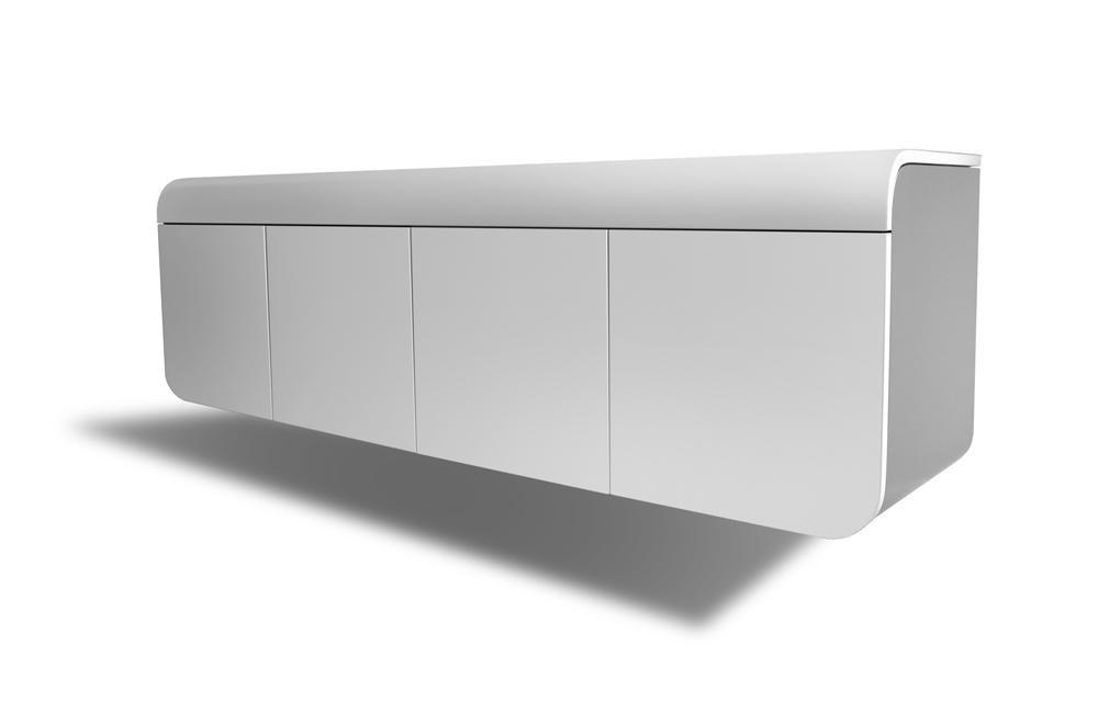 schwebendes sideboard handgefertigt rknl m belstudio. Black Bedroom Furniture Sets. Home Design Ideas