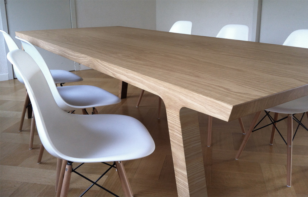 Table de repas one studio de cr ation de meubles rknl - Table repas design ...