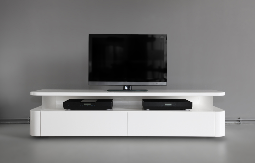 designer media console rknl audio. Black Bedroom Furniture Sets. Home Design Ideas