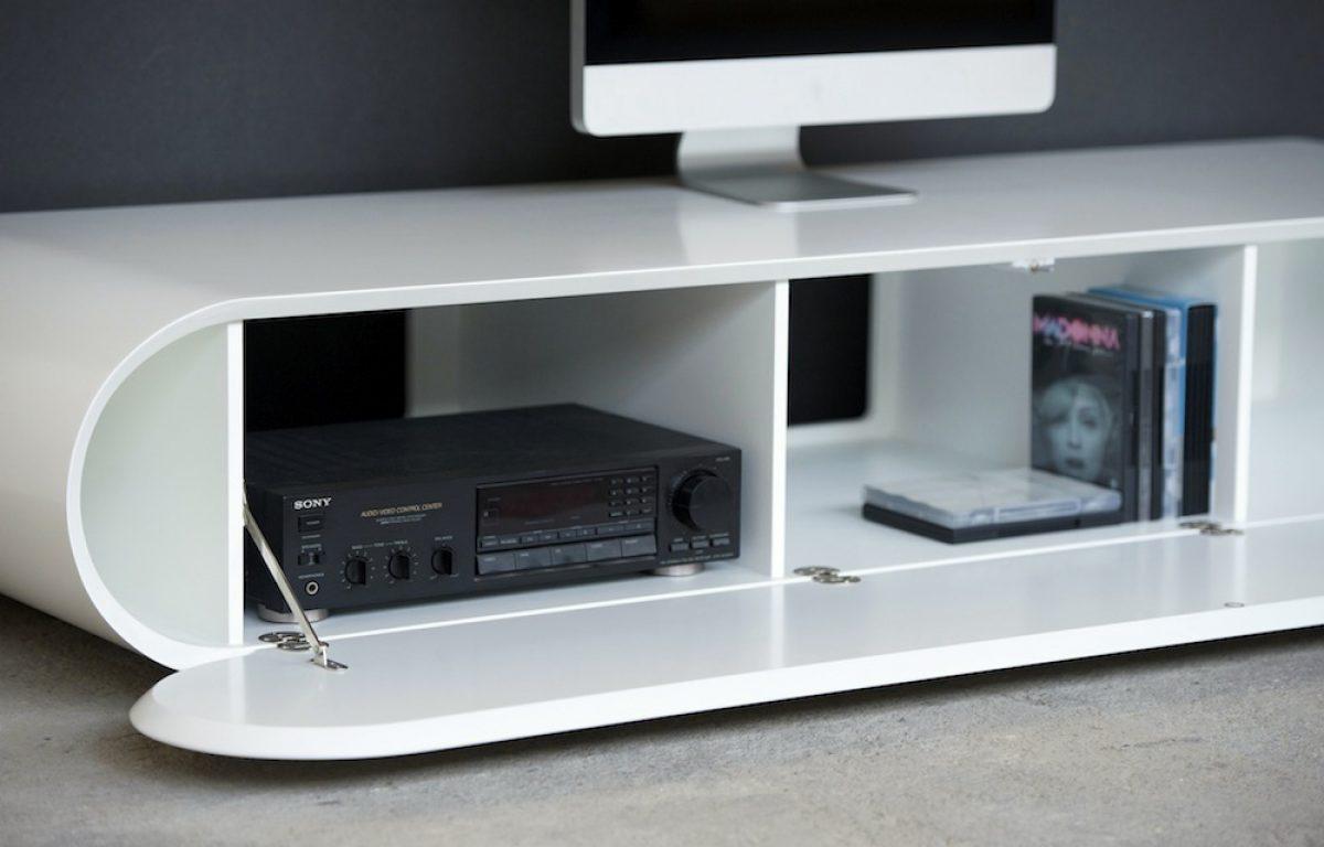 Design Tv Meubel Hoogglans.Design Tv Meubel Pure In Hoogglans Wit Van Rknl Meubelstudio