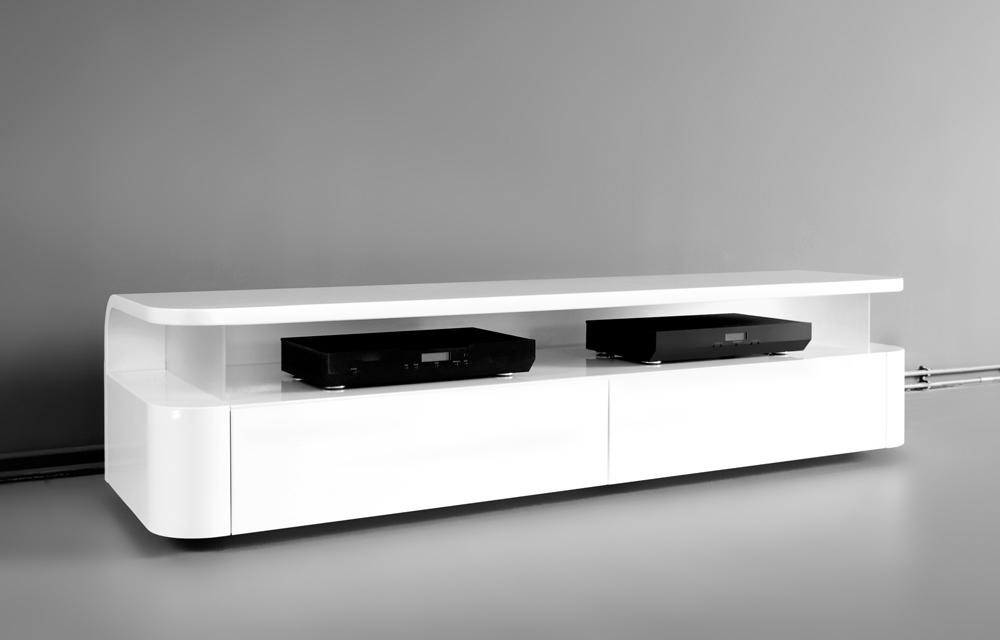 Hidden Tv Meubel.Designer Media Unit Curve Design By Ronald Knol
