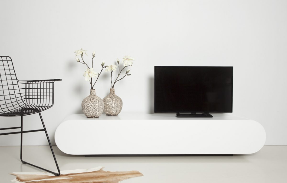 Design Hoogglans Tv Meubel.Design Tv Meubel Pure In Hoogglans Wit Van Rknl Meubelstudio