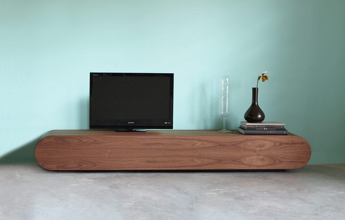 Noten Tv Meubel.Design Tv Meubel Notenhout Rknl Meubelstudio