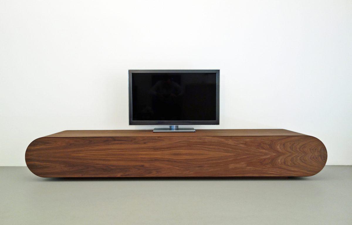 Tv Kast Handgemaakt.Design Tv Meubel Notenhout Rknl Meubelstudio