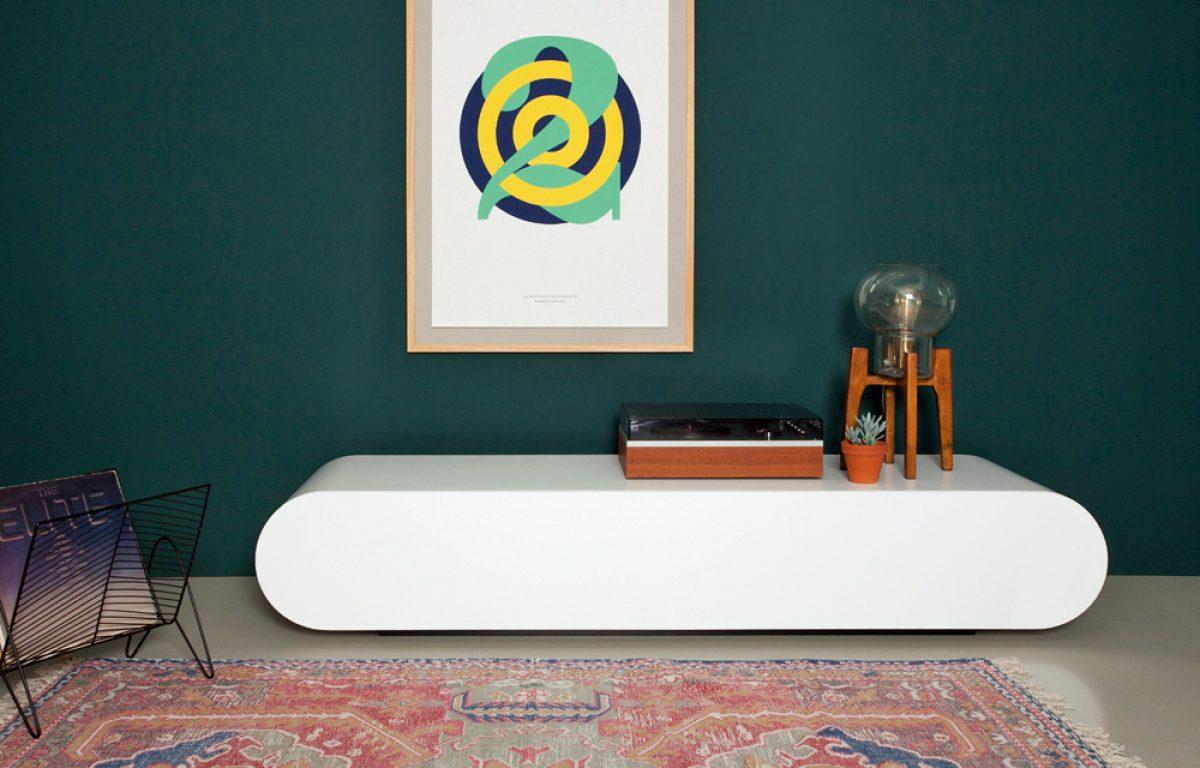 Gebroken Wit Tv Kast.Design Tv Meubel Pure In Hoogglans Wit Van Rknl Meubelstudio